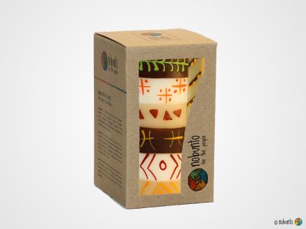 AKONO Geschenkbox 1 x Stumpenkerze