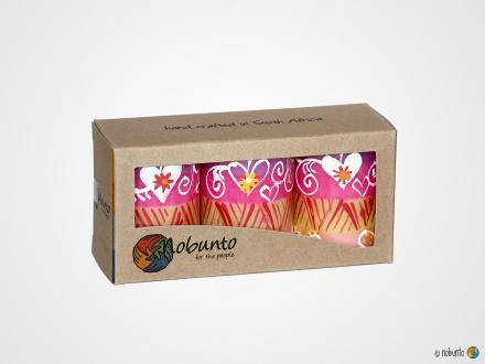 ASHIKI Geschenkbox 3 x Stumpenkerze