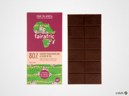 fairafric Bio Zartbitter-Schokolade Fleur de Sel 80 % (80 g)