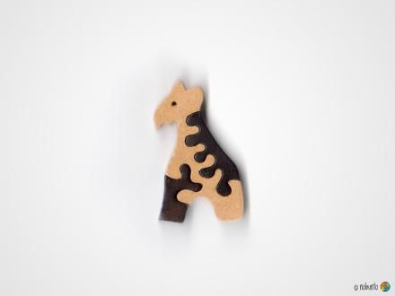 Mini-Holzpuzzle GIRAFFE