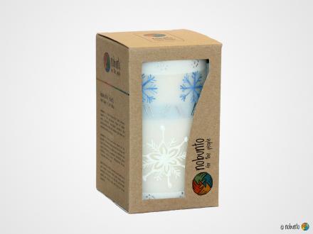 KAPOKO Geschenkbox 1 x Stumpenkerze