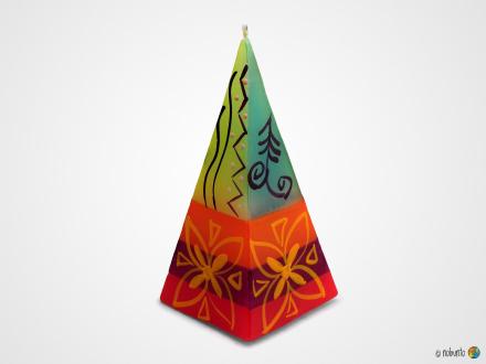 MATUKO Pyramidenkerze 5 x 12 cm