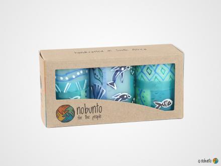 SAMAKI Geschenkbox 3 x Stumpenkerze