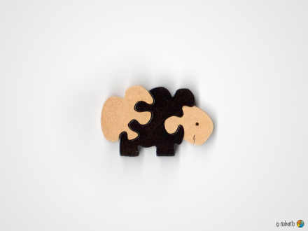 Mini-Holzpuzzle SCHAF