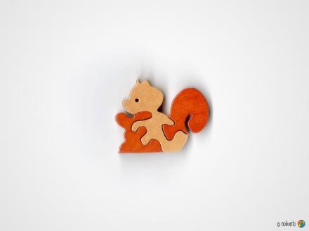 Mini-Holzpuzzle EICHHÖRNCHEN