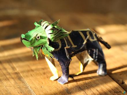 TIN ANIMAL Löwe aus Getränkedose