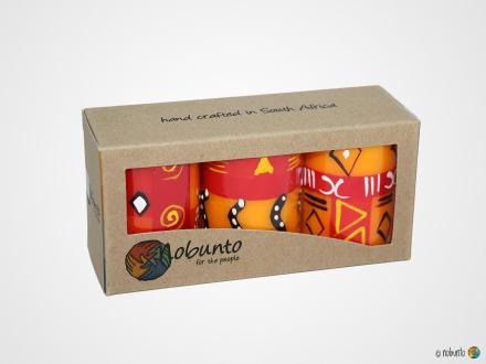 ZAHABU Geschenkbox 3 x Stumpenkerze